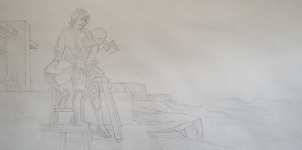 Rough sketching Figures Closer- Starting a Painting