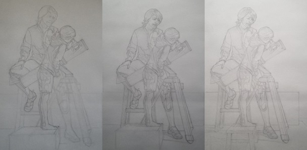Rough sketching Figures More- Starting a Painting