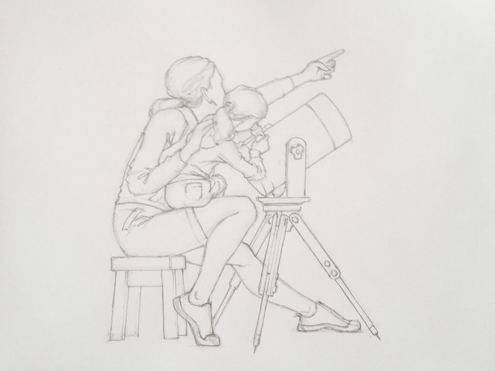 Rough sketching - Starting a Painting