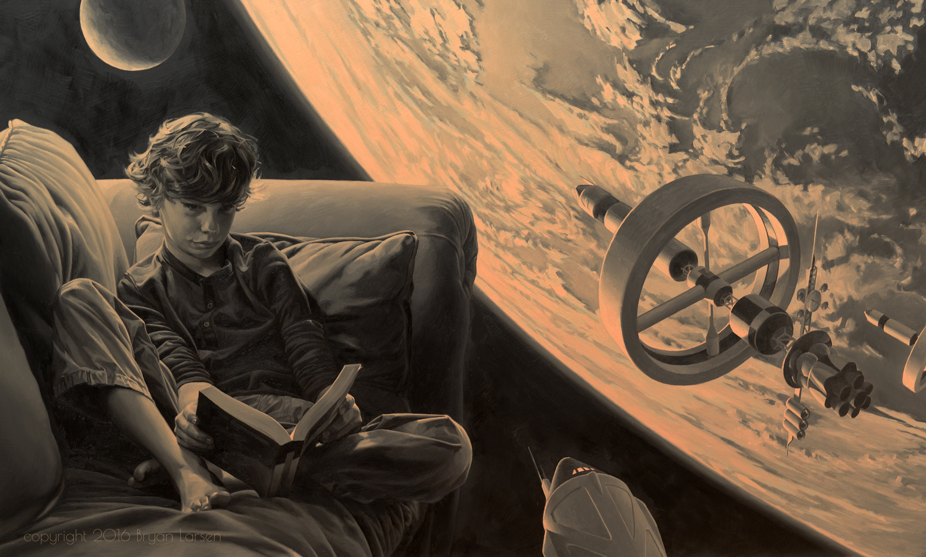 space_reader_under_painting